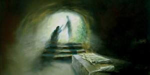 A painting of Jesus being risen. Circle of Hope celebrates Eastertide.