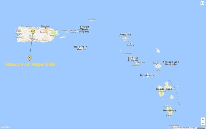 خريطة جزيرة الكاريبي