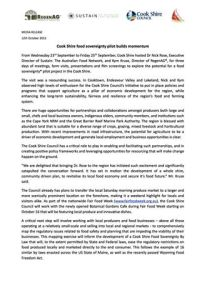Cook Shire Food Sovereignty Pilot