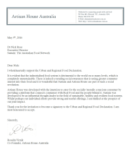 Artisan House Letter