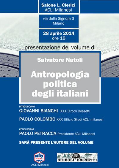 Salvatore Natoli. Antropologia politica degli italiani.