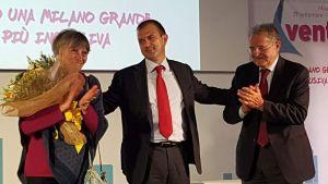 Silvia Barbanti, Paolo Petracca, Romano Prodi. Milano Spazio Convegni della Festa delle ACLI, 29 settembre 2017