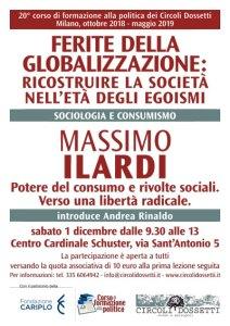 Locandina Massimo Ilardi, potere del consumo e rivolte sociali. Verso una libertà radicale.
