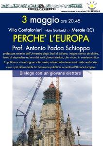 locandina perché l'Europa - Antonio Padoa Schioppa