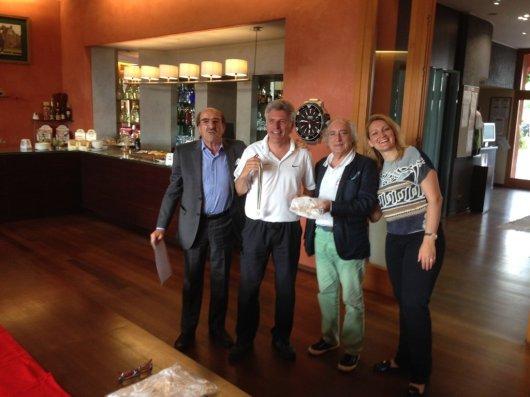 Medaglia d'argento Alessandro Manfredi Cus Modena con gli organizzatori a sn Andrea Baghino e a destra il Presidente Cus Genova Maurizio Cechini e Vanja Borscevski Masnata