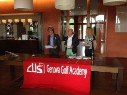 Gli organizzastori CUS GENOVA Academy da sn Andrea Baghino, il Presidente Maurizio Cechini e Vanja Borscevski Masnata