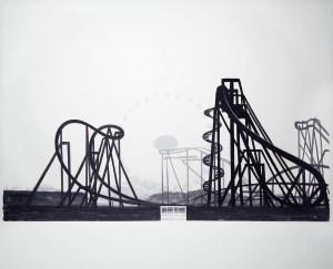 Marco Neri, Mirabilandia, 2003 tempera su lino, cm 160 x 200 foto Michele Alberto Sereni
