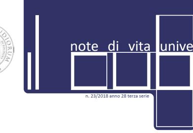 """""""IL Cubo – Note di vita universitaria"""" n. 23 2019"""