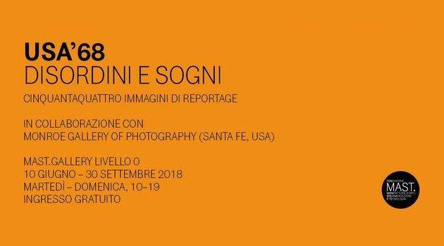 """Visita guidata dal Prof. Bazzocchi in Fondazione MAST alla Mostra su """"Il '68 in USA e il fotogiornalismo degli anni '60"""""""