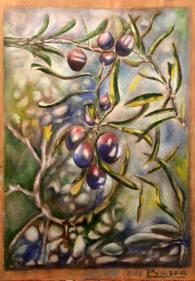 Riccardo Piazza - olive - olio su tela
