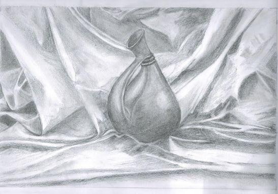 Maria Grazia Battistella - anfora nuragica - matita su carta