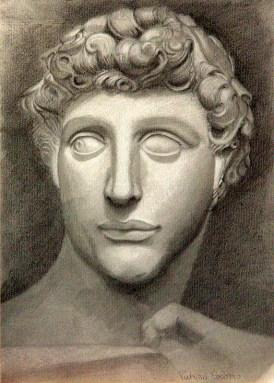 Patrizia Colomo - copia da testa di statua . matita su carta