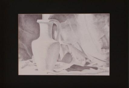 Elisabetta Spiga - penna biro nera su cartoncino