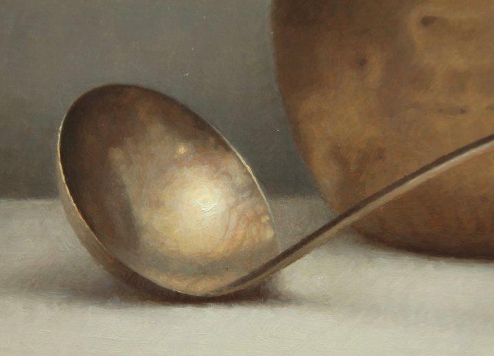 particolare pennellate mestolo