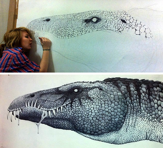 baryonyx-dinosaur-drawing-gcse