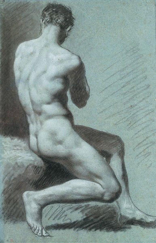 uomo-seduto-di-spalle by Prud'hon
