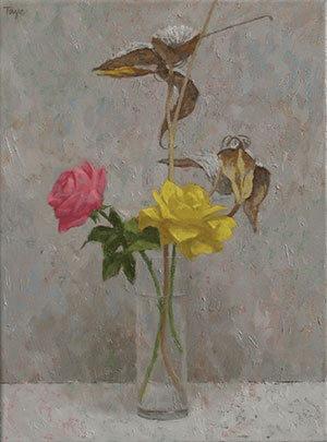 """""""The Bouquet"""" di John Taye come appare una volta finita la pittura ad olio"""