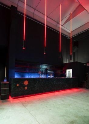Sala e banco bar