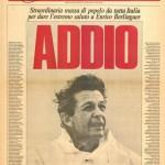 L'ultimo comizio di Enrico Berlinguer