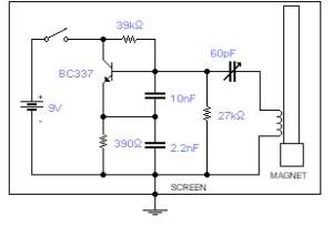 How to build Geomagic field detector  circuit diagram