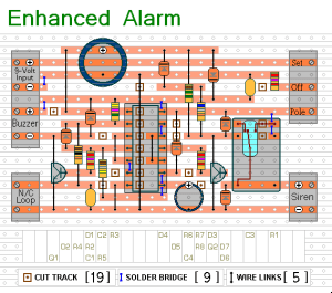 How to build An Enhanced Shed  Garage Alarm  circuit diagram