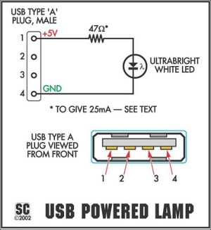 How to build The ItsyBitsy USB Lamp  circuit diagram