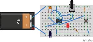555 Timer Monostable Mode w Potentiometer
