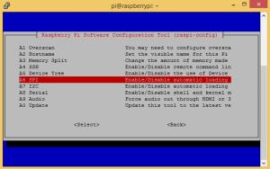 Raspi-config enable spi