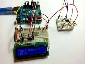High Accuracy Capacitance Meter with LCD Output