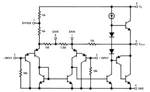 LM386 Internal Circuit