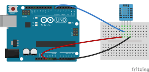 DHT11 Humidity and Temperature Sensor Connections for Arduino