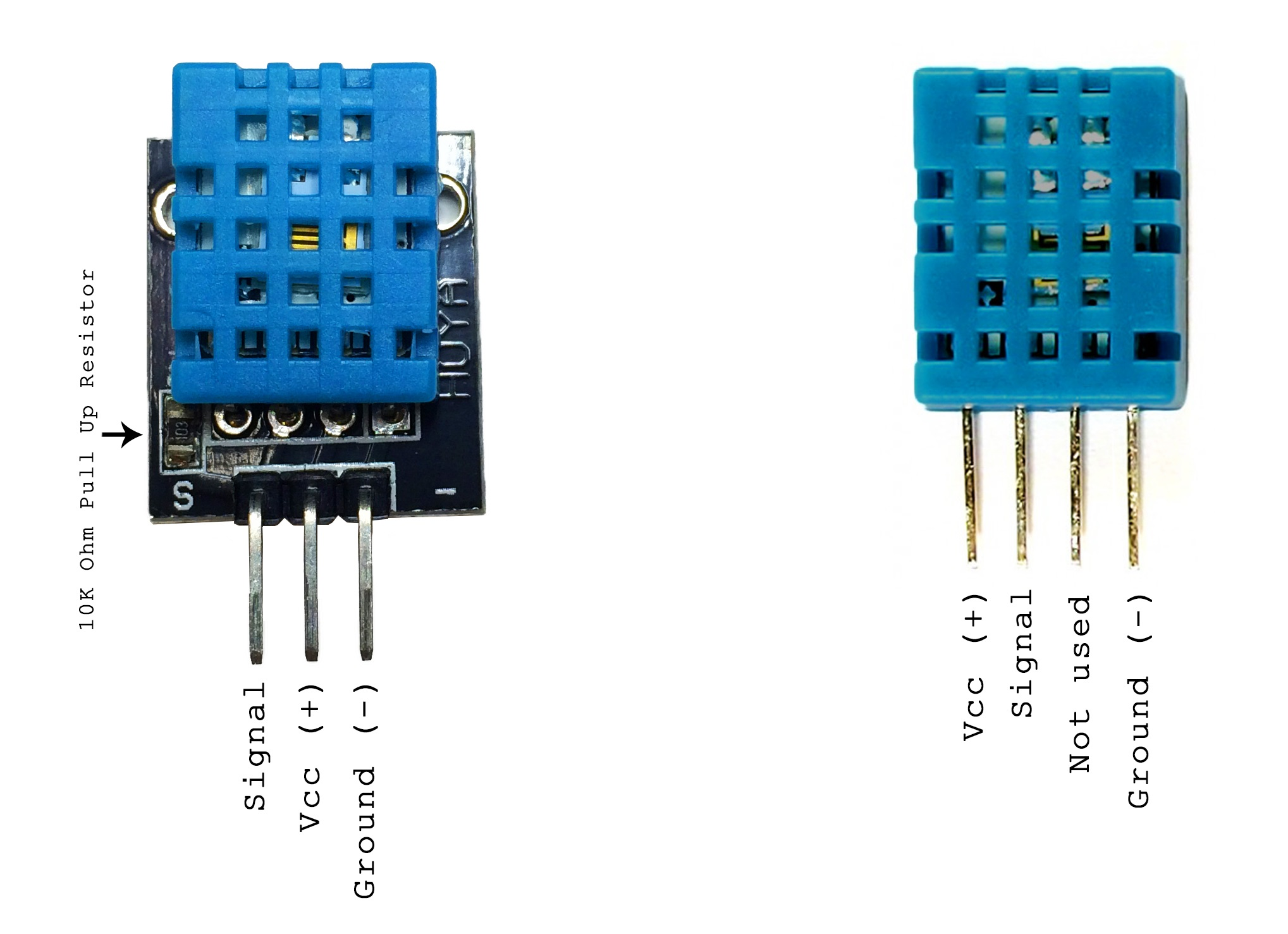 Electric thermometer by using DHT11 sensor module