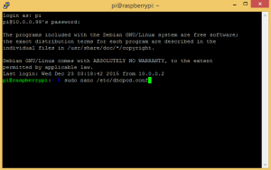 How to Set Up a Static IP for your Raspberry Pi - Sudo Nano dhcpcd conf