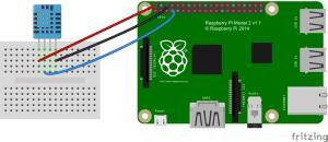 Raspberry Pi DHT11 SSH Terminal Output Connection Diagram