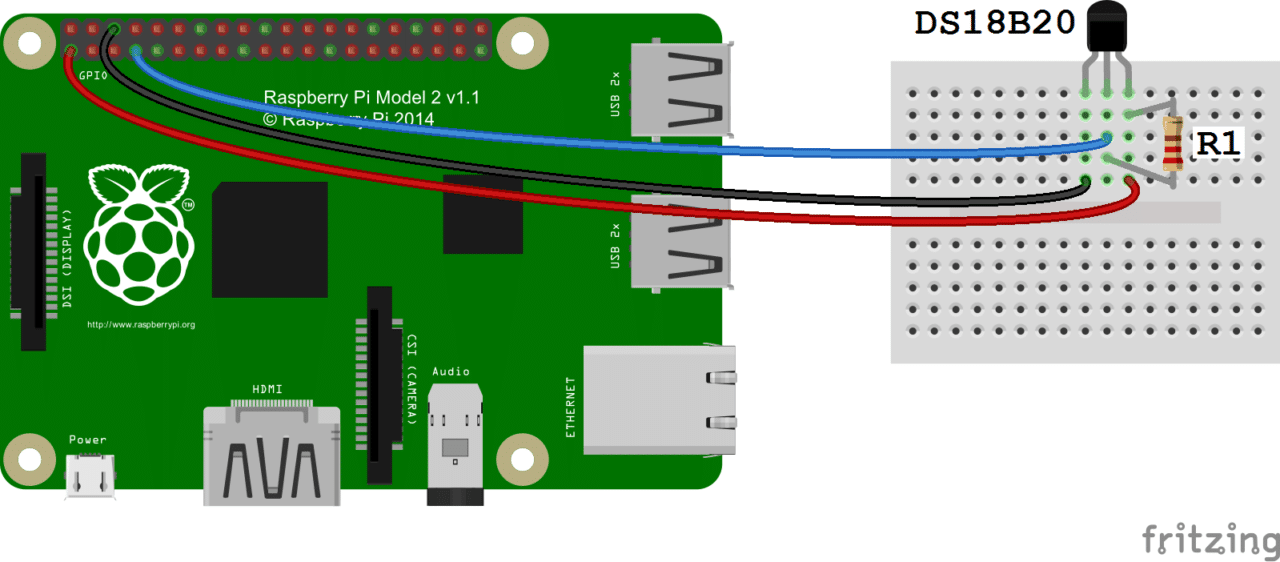 raspberry pi ds18b20 temperature sensor tutorial