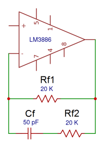 How to Design a Hi-Fi Audio Amplifier With an LM3886 - Rf1, Rf2 and Cf