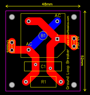 How to Design a Hi-Fi Audio Amplifier With an LM3886 - Ground Protection Circuit PCB Layout