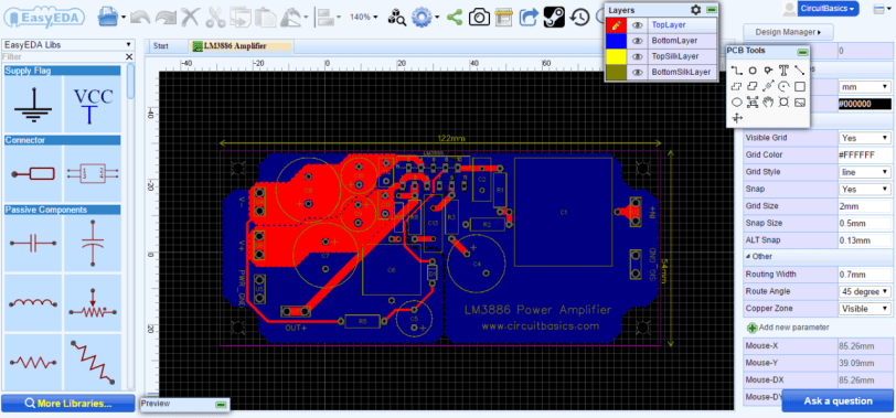 How to Design a Hi-Fi Audio Amplifier With an LM3886 - PCB Layout