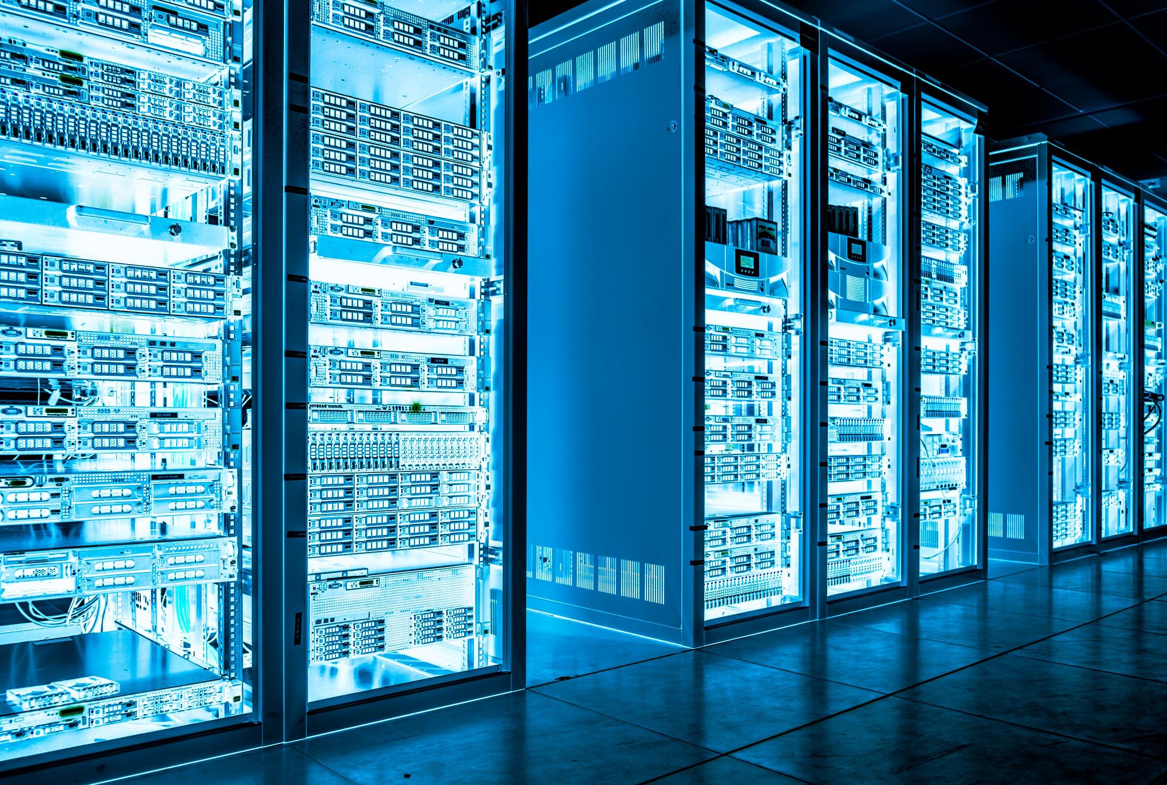 Data cabinets housing hardware