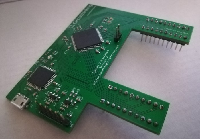 Fully Assembled PCB with components added