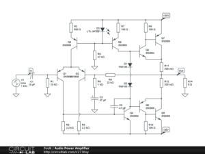 Audio Power Amplifier  CircuitLab