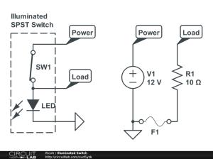 Illuminated SPST switch  Basic Electronics (New to