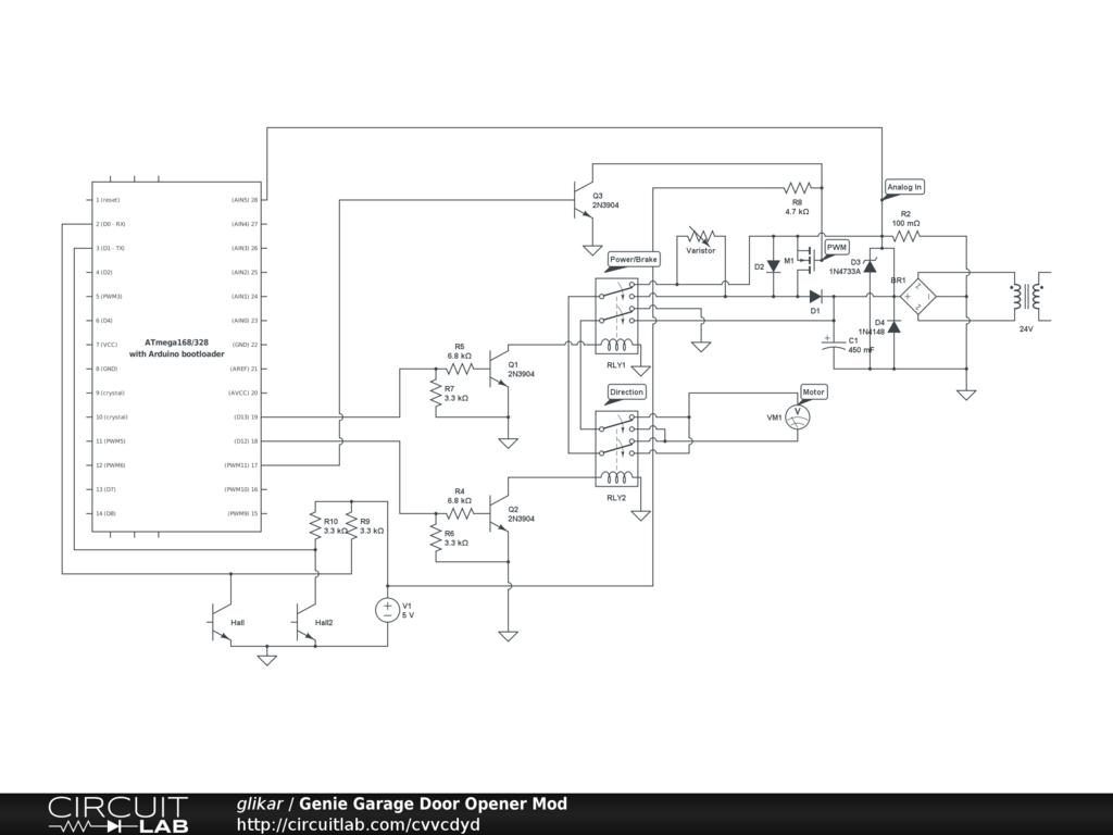 Garage Door Opener Transmitter Circuit Diagram Detailed Schematics Genie Radio Control Wiring Remote Diagrams Dimensions
