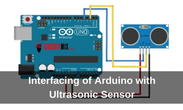Interfacing of Arduino with Ultrasonic Sensor