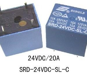 SRD-24VDC-SL-C DC24V 24V10A Relè 5pins