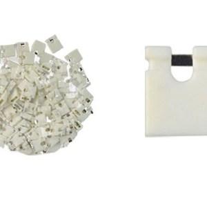 2000 Pezzi White short block, Short-circuit block, the jumper cap,2.54 connection block