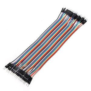 arduino 20cm Maschio TO Maschio Cavi Solderless Jumper Breadboard Wires (40-Cavo Pack)