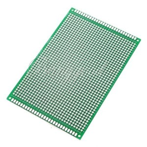 80*120mm Double-Side Prototipo Board PCB, FR-4 Glass Fiber board 12x8