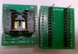 SSOP16 to DIP28 (Note a plastic width of 4.4), pitch 0.65IC test seat conversion Block