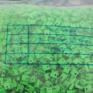 2000 Pezzi Green short block, Short-circuit block, the jumper cap,2.54 connection block